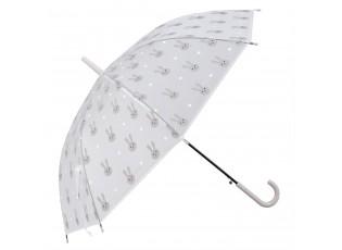 Dětský deštník s králíčky Bunny grey - Ø 90*55 cm