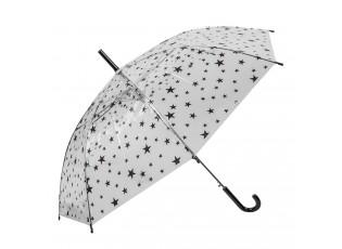 Dětský deštník s hvězdičkami Stars black - Ø 90*55 cm