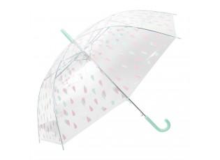 Dětský deštník s kapkami Drops green - Ø 90*55 cm