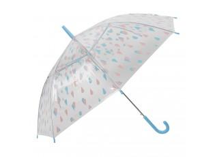 Dětský deštník s kapkami Drops blue - Ø 90*55 cm