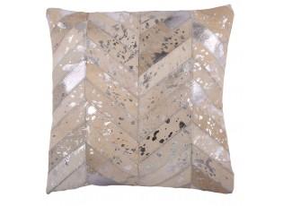 Kožený polštář s výplní Enrico 10 - 45*45 cm