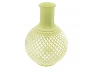 Zelená váza s patinou Agnesse - Ø 13*18 cm