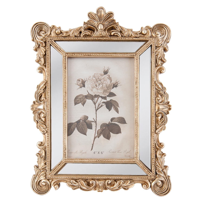 Zlatý fotorámeček s ornamentem - 19*2*27 cm / 10*15 cm