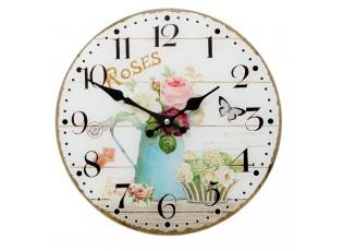 Nástěnné skleněné hodiny Roses - Ø 30*4 cm