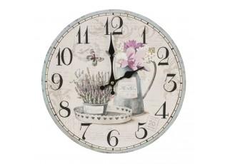 Nástěnné hodiny Provence - Ø 34*4 cm