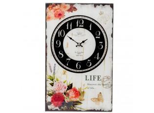 Nástěnné skleněné hodiny Life- 25*4*40 cm