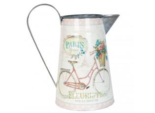 Plechový džbánek Fleuriste Paris - 22*15*25 cm