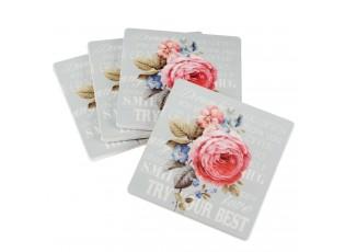 Podtácky Vintage Rose 4ks - 10*10 cm