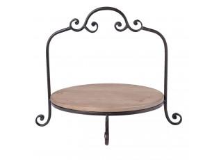 Kovový ozdobný stojan/ podnos na talíře - 35*33*29 cm