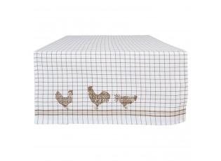 Běhoun na stůl Country Side Chicken nature - 50*140 cm
