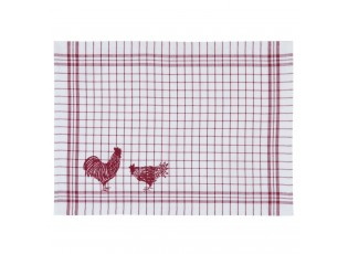 Prostírání Country Side Chicken red - 48*33 cm - sada 6ks