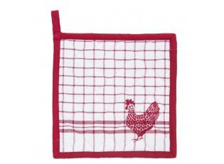 Chňapka - podložka Country Side Chicken red - 20*20 cm