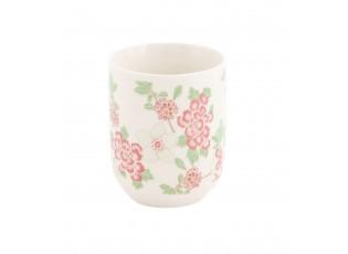 Kalíšek na čaj dekor květiny -Ø 6*8 cm