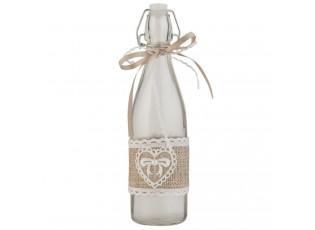 Dekorativní skleněná láhev s uzávěrem - Ø 7*26 cm