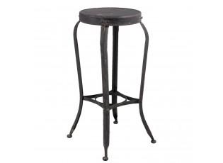 Kovová černá barová stolička s patinou - 37*37*72 cm