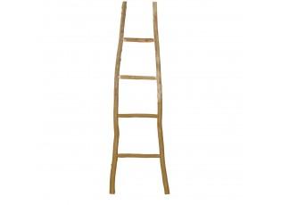 Dřevěný přírodní věšák na ručníky žebřík - 42*4*150 cm