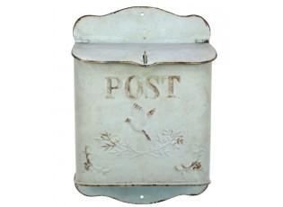 Zelená antik poštovní retro schránka s ptáčkem - 23*12*34 cm