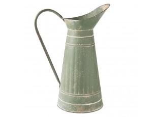 Zelená plechová konev - 30*19*40 cm
