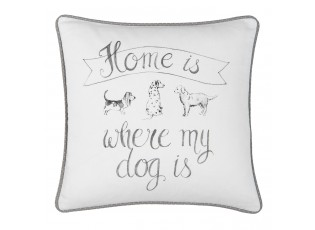 Povlak na polštář Home is where my dog is - 40*40 cm