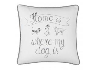 Povlak na polštář Home is where my dog is - 40*40 cm