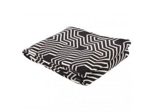Černobílý bavlněný pléd Vogue 2 - 130*170 cm