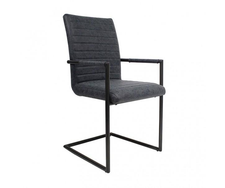 Modrošedá židle/křeslo Industrial - 48*97 cm