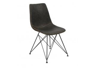 Antracitová židle/křeslo Jace - 43*57*81 cm