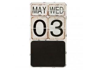Nástěnný kovový kalendář v retro stylu - 27*2*48 cm
