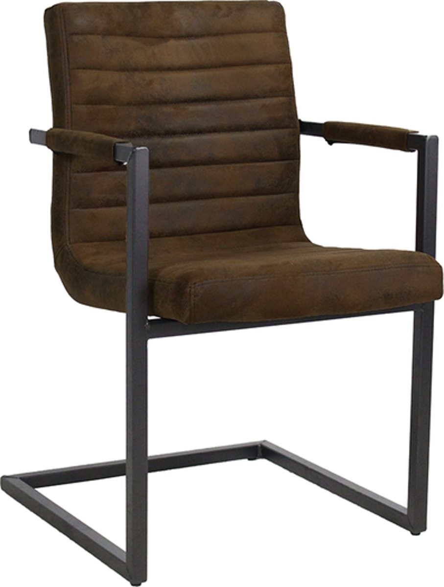 Vintage hnědá židle/křeslo Bruut - 54*60*83 cm