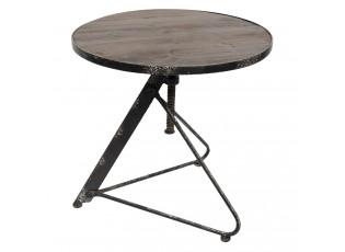 Kovový designový stolek - Ø 61*60 cm