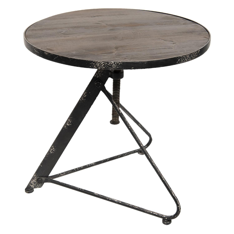Kovový designový stolek Industrial - Ø 61*60 cm