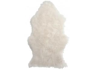 Bílá předložka z umělé kůže - 60*95*1 cm