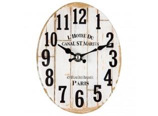 Skleněné stolní hodiny L´hotel Du - 13*4*17 cm / 1xAA