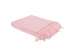 Světle růžový pléd Ibiza - 130*170 cm