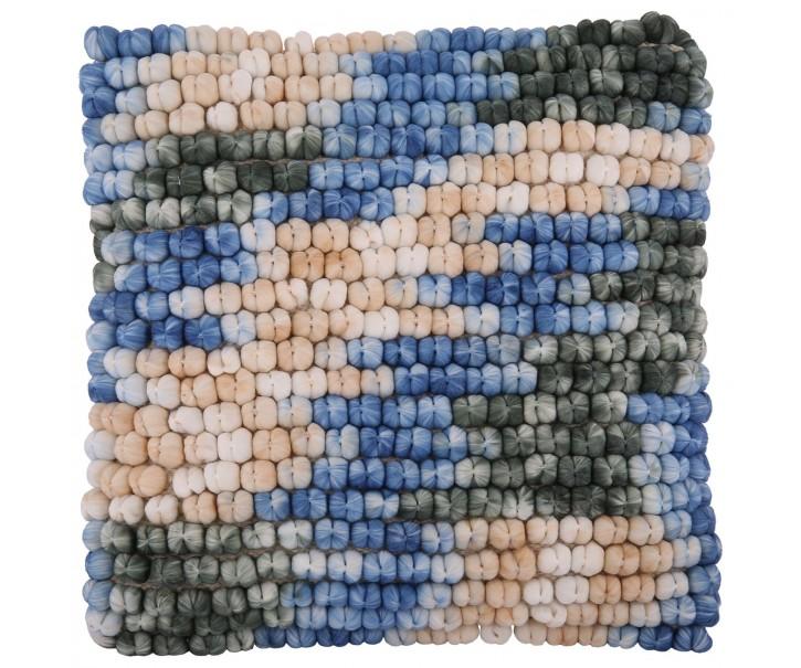 Barevný polštář s výplní Luca s modrou - 45*45 cm