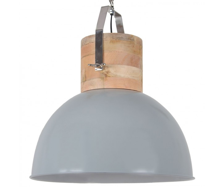 Šedé závěsné kovové retro světlo Fabriano Shiny grey - Ø 50*60 cm