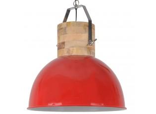 Červené závěsné kovové retro světlo Fabriano Shiny red - Ø50*60 cm