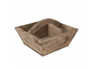 Dřevěná bedýnka s držadlem - 33*33*20 cm
