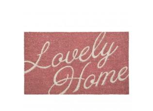 Růžová kokosová rohožka Lovely Home - 75*45 cm