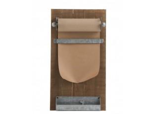 Nástěnná dřevěná Memo tabule s papírem - 39*15*71cm