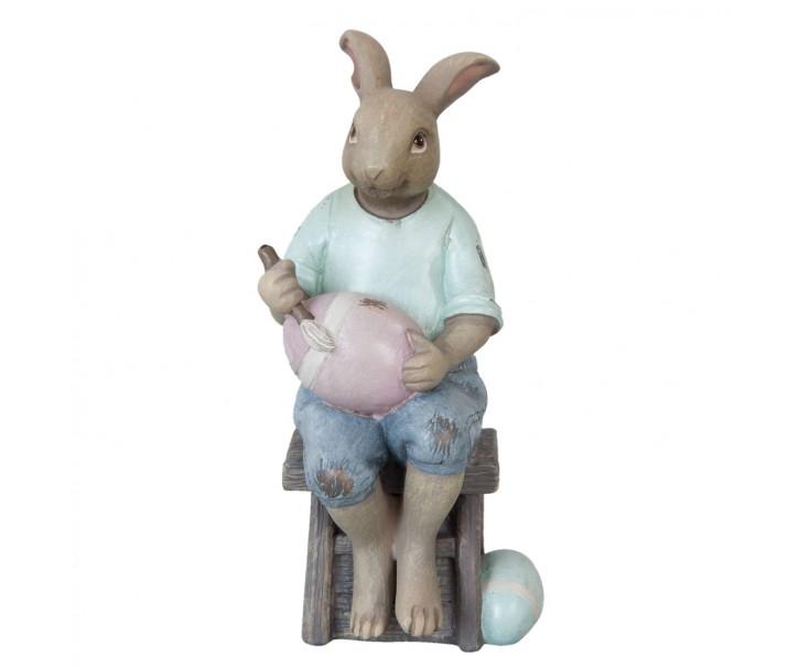 Velikonoční zajíček s vajíčkem - 8*8*16 cm