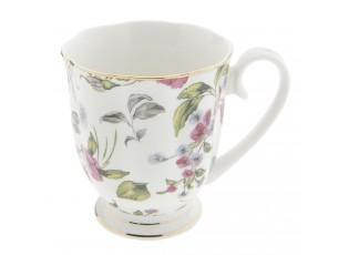 Porcelánový hrnek s malými květy -  11*8*9 cm