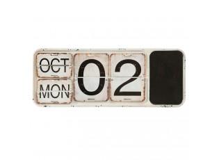 Nástěnný kovový kalendář v retro stylu - 52*2*20 cm