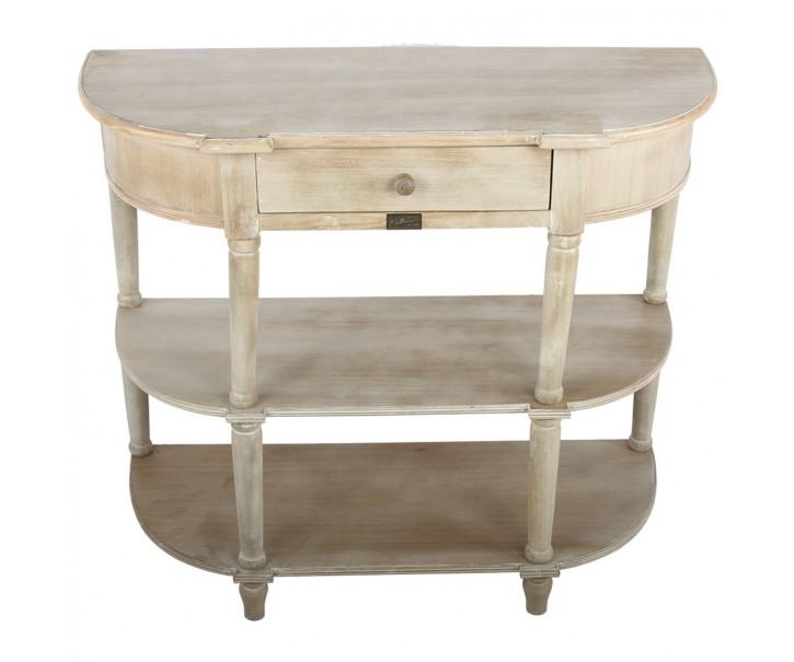 Oválný konzolový stolek Ardore přírodní s patinou - 90*37.5*78 cm