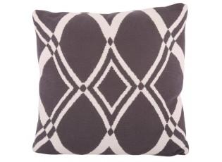 Černobílý polštář s výplní Vogue - 50*50 cm