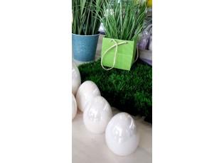 Perleťové krémové velikonoční vajíčko - Ø 7*8 cm