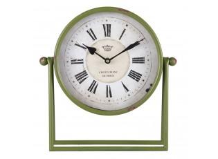 Zelené stolní hodiny L´hotel Blanc - 30*6*32 cm / 1xAA