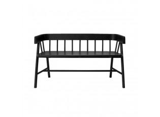 Černá zahradní lavice - 123*45*72 cm