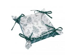 Oboustranný textilní košíček na pečivo Wild Forest - 35*35*8 cm