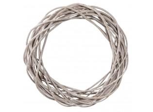 Dekorační ratanový věnec s patinou - Ø 50*9 cm